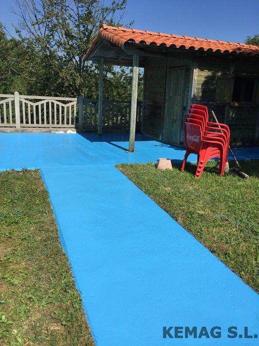 Pavimento exterior piscinas kemag pavimentos - Pavimentos exteriores antideslizantes ...