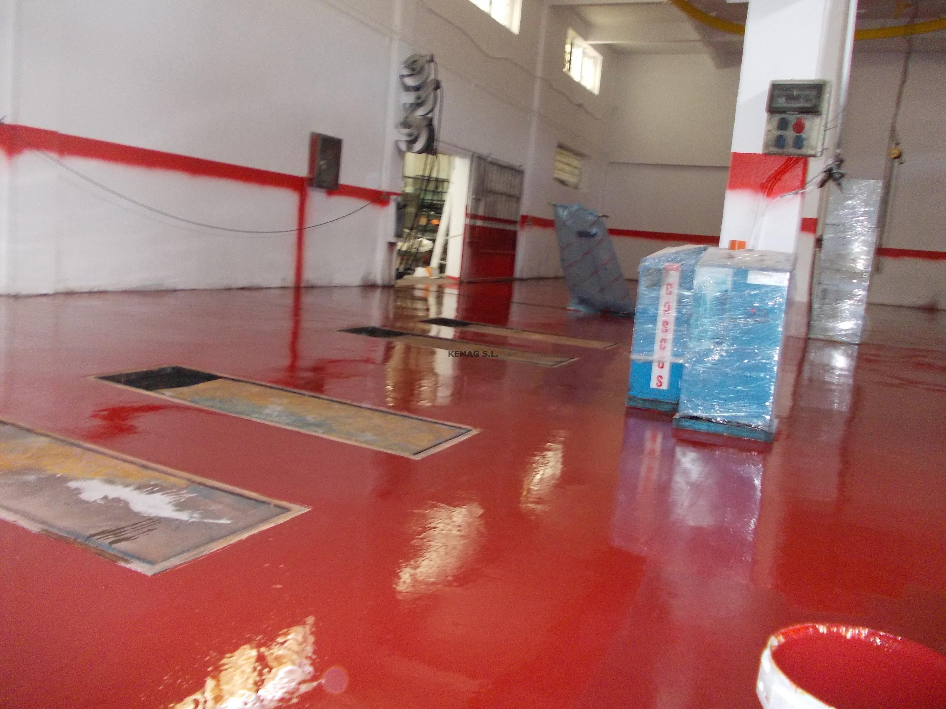 Pintura epoxi autocenter en bilbao kemag pavimentos - Pintura suelo exterior ...
