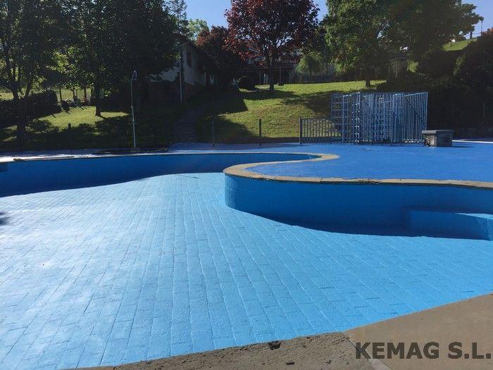 Pavimento exterior piscinas kemag pavimentos for Piscina de acrilico