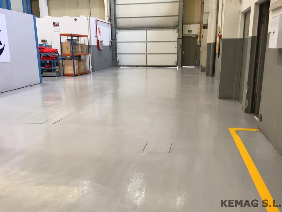 Pavimento para naves industriales en guipuzcoa kemag - Pintura suelo parking ...
